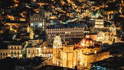 The European-inspired skylines Guanajuato, Mexico