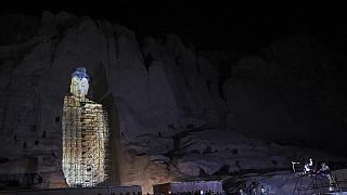 Projection en 3D des statues de Bouddha à Bamiyan (Afghanistan)