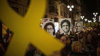 Archives : manifestation pro-indépendantiste à Barcelone, 25 octobre 2019
