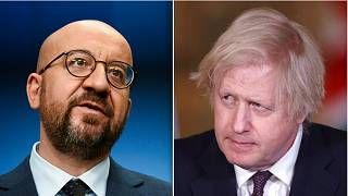 Charles Michel and Boris Johnson