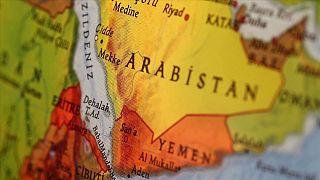 Suudi Arabistan - Yemen haritası