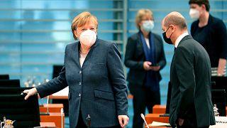 صدراعظم آلمان در جلسه کابینه این کشور