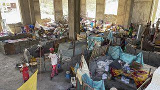 نازحون شردوا بسبب النزاع في منطقة تيغراي الإثيوبية. 2021/02/23