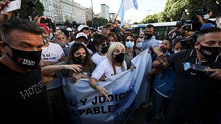 """Manifestation en Argentine pour demander """"justice pour Maradona"""""""