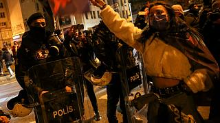 İstanbul'da düzenlenen 8 Mart Dünya Kadınlar Günü etkinliği