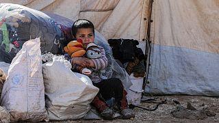 أطفال لاجئون سوريون