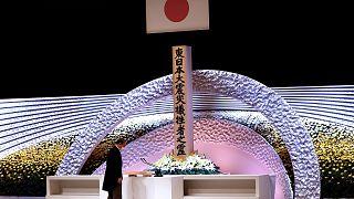 Japonya Başbakanı Yoşihide Suga, başkent Tokyo'da, Fukuşima kurbanları anısına düzenlenen anma törenine katıldı