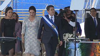 Foto de archivo del presidente de Honduras