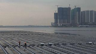 Singapur'da denize güneş panelleri