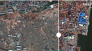Imágenes satélite permiten observar desde el espacio la reconstrucción de la zona afectada por el terremoto y tsunami de Fukushima hace 10 años