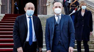 وزيرا خارجية ألمانيا وفرنسا هايكو ماس وجان-إيف لودريان