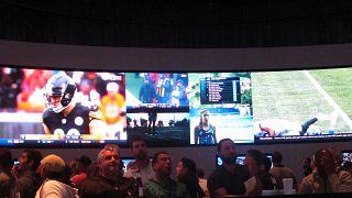 Una sala de apuestas en un casino de Atlantic City en Estados Unidos
