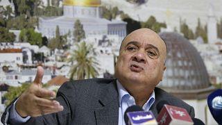 عضو اللجنة المركزية في حركة فتح ناصر القدوة خلال مؤتمر صحفي في رام الله. 2019/01/23