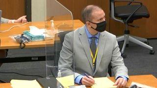 Former Minneapolis police officer Derek Chauvin in court on March 9