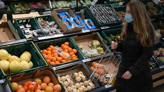 Fruit and vegetables in a Tesco supermarket in London, December 14, 2020. There have been fears about the impact of customs checks on EU imports.