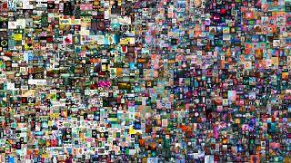 الملصق الرقمي للفنان الأمريكي بيبل في مزاد كريستيز. 2021/03/11