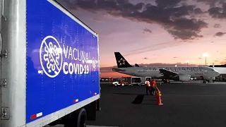 Un cargamento de vacunas llegado a El Salvador