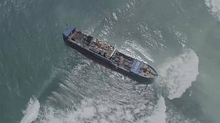 Stranded Chinese fuel vessel towed off to the coast of Mauritius