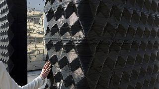 Hollanda'da 3 boyut basım teknolojisi ile inşa edilmiş bir duvar (arşiv)