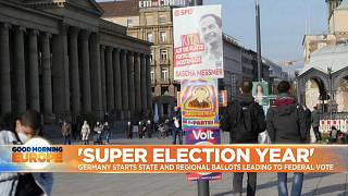 Posters ahead of Germany's regional elections