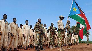 یک پایگاه آموزش نظامی در سودان جنوبی