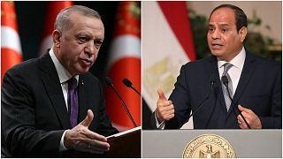الرئيس التركي رجب طيب أردوغان ونظيره المصري عبد الفتاح السيسي.