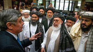 دیدار ضمیر کابلوف، نماینده ویژه رئیس جمهور روسیه در امور افغانستان با نمایندگان طالبان (آرشیو)