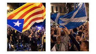 استقلال طلبان کاتالونیا و استقلال طلبان اسکاتلند