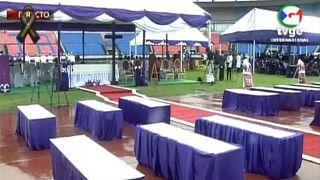 Guinée Equatoriale : funérailles des victimes des explosions de Bata