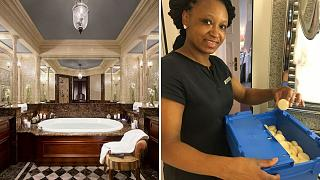 Swiss NGO SapoCycle collects soaps from luxury hotels.