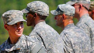 یکی از نظامیان زن در ارتش آمریکا