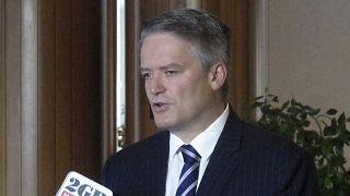 Ο Ματίας Κόρμαν σε παλαιότερη φωτογραφία (2017) όταν ήταν υπουργός Οικονομικών της Αυστραλίας.