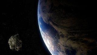 عکس تزیینی از عبور یک سیارک از کنار زمین