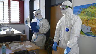Vorbereitung auf einen Test in einer Schule