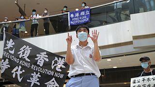 Hong Kong'da demokrasi yanlısı bir gösteri.
