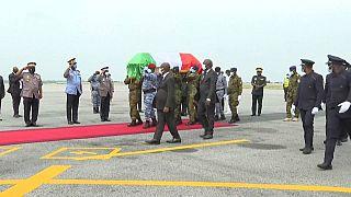 Le corps du premier ministre ivoirien, Hamed Bakayoko est arrivé à Abidjan