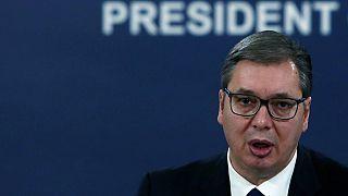 Ο πρόεδρος της Σερβίας, Αλεξάνταρ Βούτσιτς