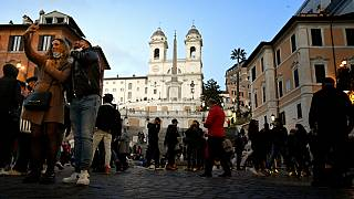 A Praça de Espanha, em Roma, este sábado