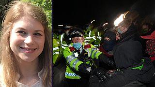 Morte de Sarah Everard (esq.) motivou tributo interrompido pela polícia