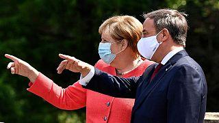 آنگلا مرکل، صدراعظم آلمان و آرمین لاشت، رهبر جدید حزب دموکرات مسیحی