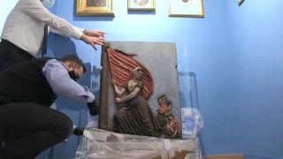 Μουσείο Φιλελληνισμού - Έργο Γάλλου καλλιτέχνη που απεικονίζει την Λασκαρίνα Μπουμπουλίνα
