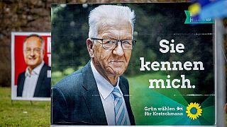 Winfried Kretschmann (Grüne) auf Wahlplakat für Landtagswahl in Baden-Württemberg