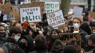 Protesta contra la actuación policial en Londres, Reino Unido