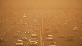 Homok kavarog Peking fölött