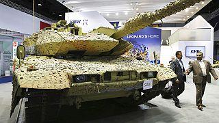 Alman yapımı bir Leopard tankı.
