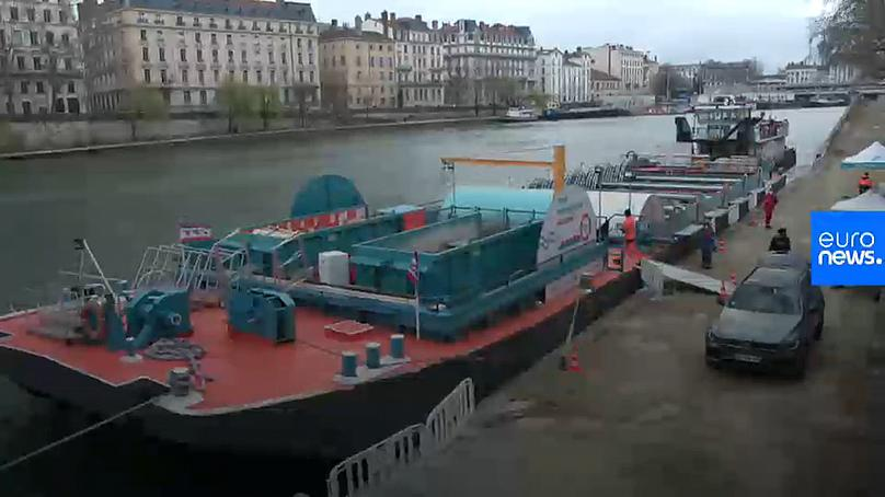 Europe's first waterborne waste collection facility in Lyon