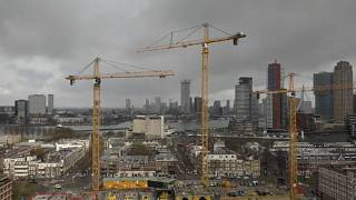 Construction in Rotterdam, the Netherlands.