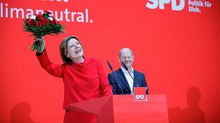 خوشحالی مالو درایر از حزب سوسیال دموکرات از پیروزی در انتخابات ایالت راینلند فالتس