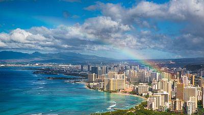 A rainbow over Hawaii