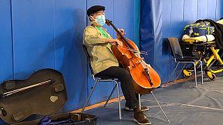 O παγκοσμίου φήμης βιολοντσελίστας Yo-Yo Ma